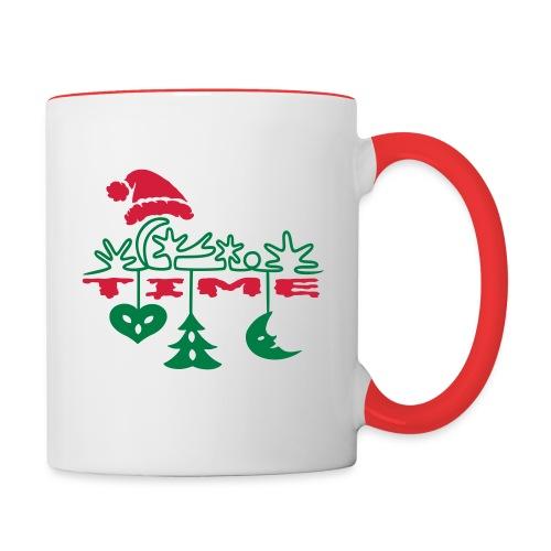 Weihnachten - Tasse zweifarbig