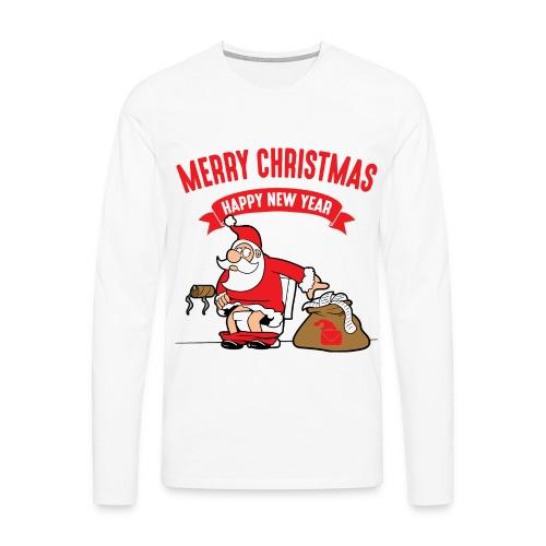 T-Shirt Merry Christmas Santa  - T-shirt manches longues Premium Homme
