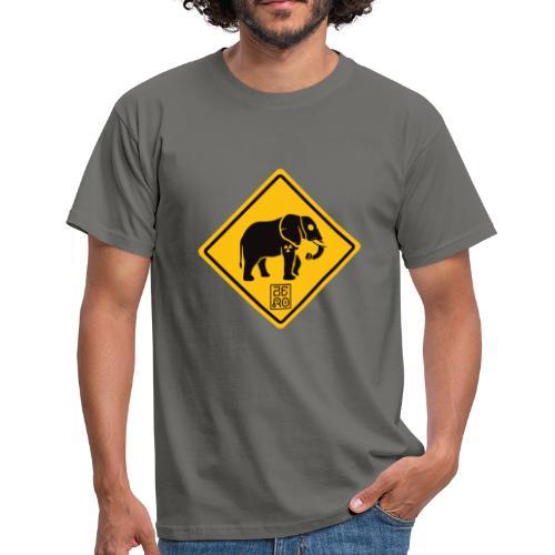elephant sign nuclear - Maglietta da uomo