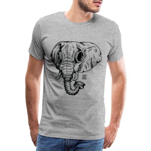 elephant ico blk outline - Maglietta Premium da uomo