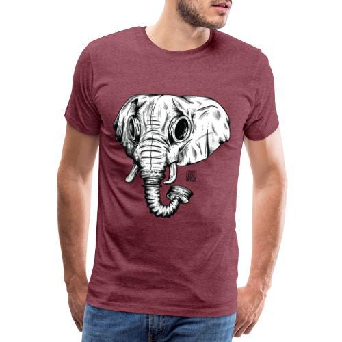 elephant ico bl wht - Maglietta Premium da uomo