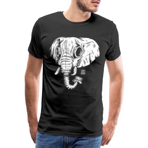 elephant ico wht  - Maglietta Premium da uomo
