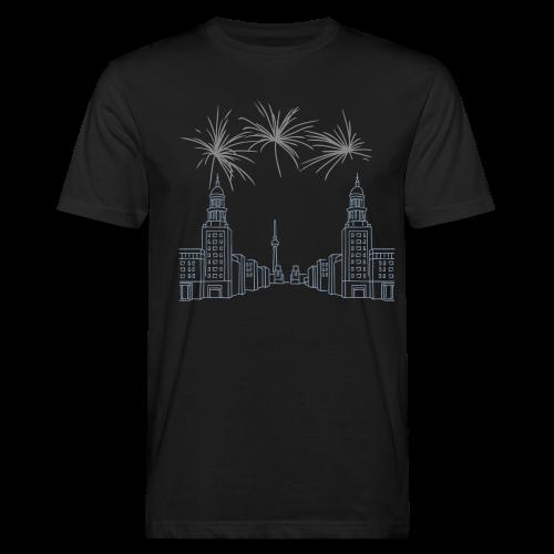 BERLIN Silberregen Feuerwerk Silvester Frankfurter Tor - Männer Bio-T-Shirt