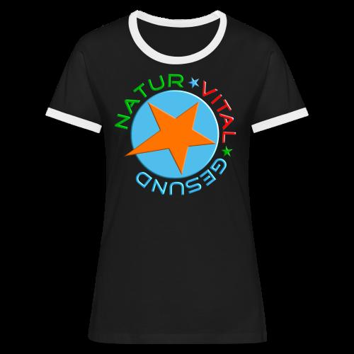 NATUR-VITAL-GESUND - Frauen Kontrast-T-Shirt