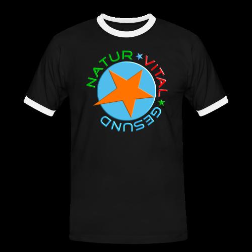 NATUR-VITAL-GESUND - Männer Kontrast-T-Shirt