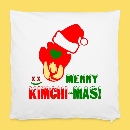 """❤ټMerry Kimchi-Mas-Fun Foodcontest Christmasټ - Pillowcase 16"""" x 16"""" (40 x 40 cm)"""