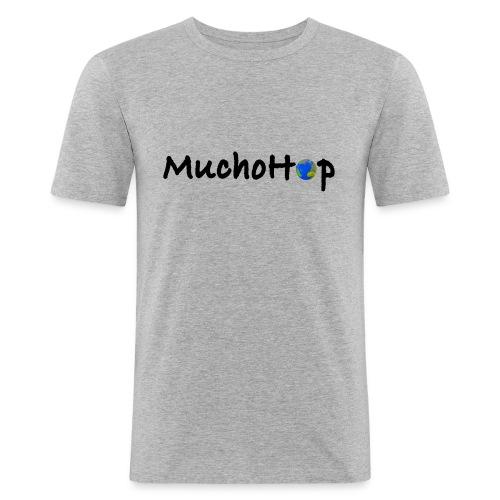 Camiseta ajustada hombre - Nos gusta MUCHO viajar por todo el mundo. We like to HOP around the globe.