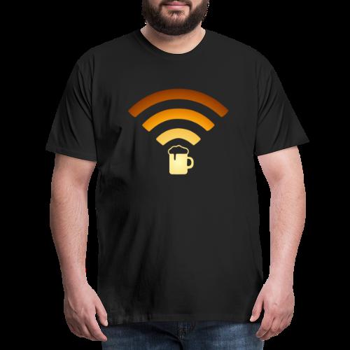 Bier Beer WLAN Wifi - Männer Premium T-Shirt