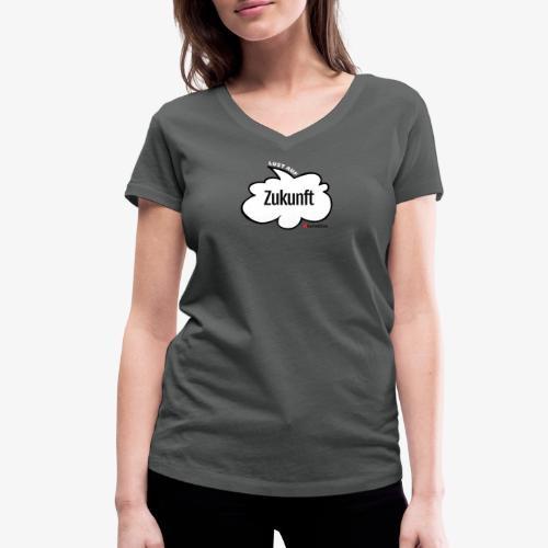 Lust auf Zukunft - Frauen Bio-T-Shirt mit V-Ausschnitt von Stanley & Stella
