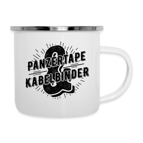 BRDSTN Panzertape & Kabelbinder Classic Emaille Cup - Emaille-Tasse
