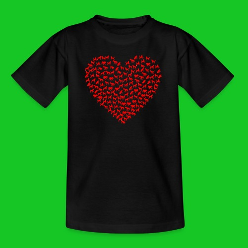 Love cats and dogs kinder t-shirt - Kinderen T-shirt
