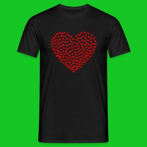 Love cats and dogs heren t-shirt - Mannen T-shirt