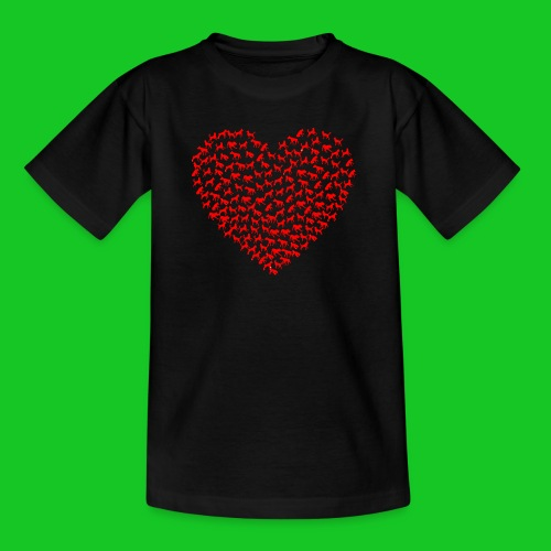 Love cats and dogs teenager t-shirt - Teenager T-shirt