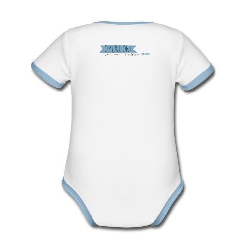 Body contraste para bebé de tejido orgánico
