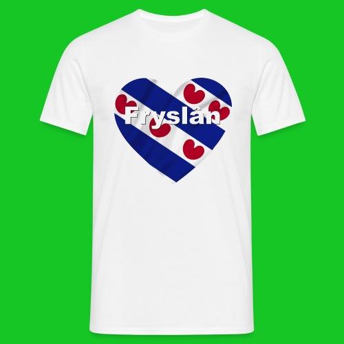 Love Fryslân hert heren t-shirt - Mannen T-shirt