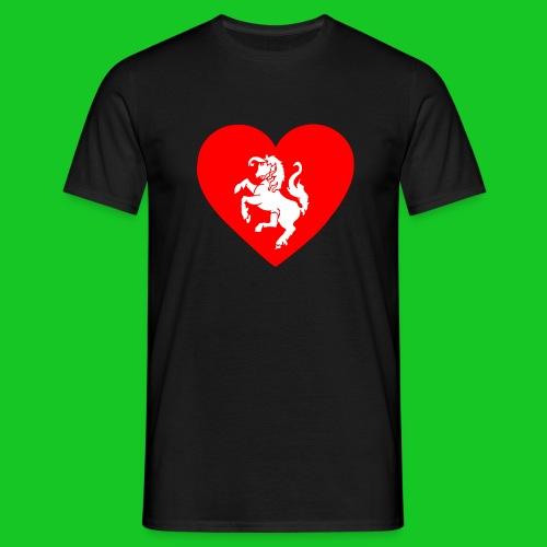 Love Twente hart heren t-shirt - Mannen T-shirt