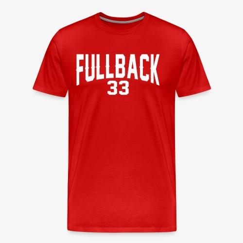 Männer Premium T-Shirt - tackle,runningback,polk,high,guard,fullback,center,back,american,Quarterback,Highschool,Football,Collage