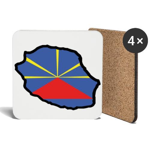 Dessous de verre (lot de 4) drapeau LO MAHAVELI - Dessous de verre (lot de 4)
