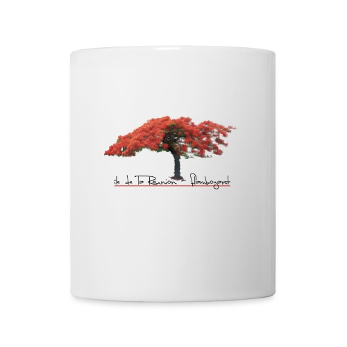 Mug blanc Flamboyant - 974 La reunion - Mug blanc
