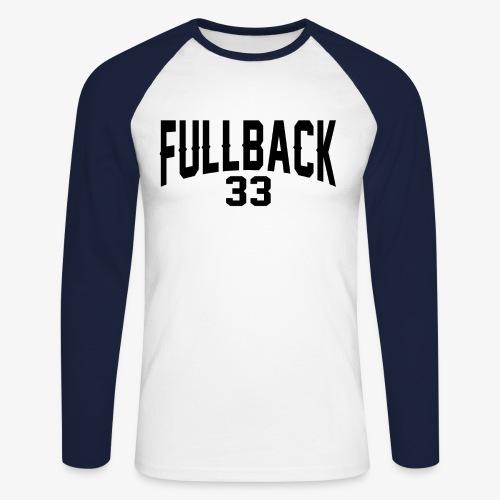 Männer Baseballshirt langarm - tackle,runningback,polk,high,guard,fullback,center,back,american,Quarterback,Highschool,Football,Collage