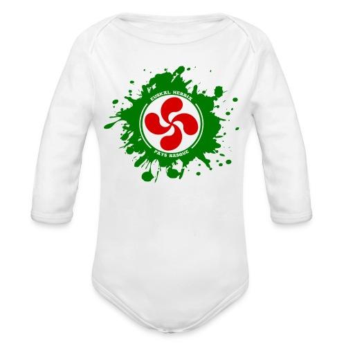 Basque splash - Body bébé bio manches longues