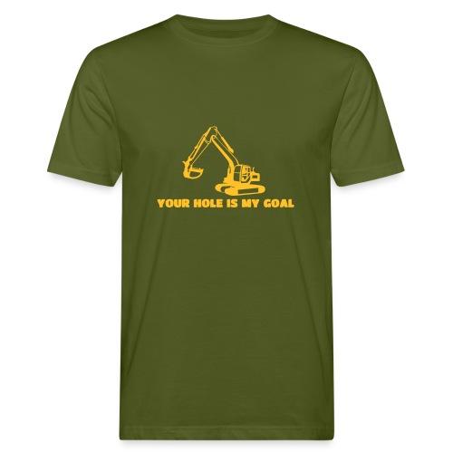 Your hole is my goal - Männer Bio-T-Shirt