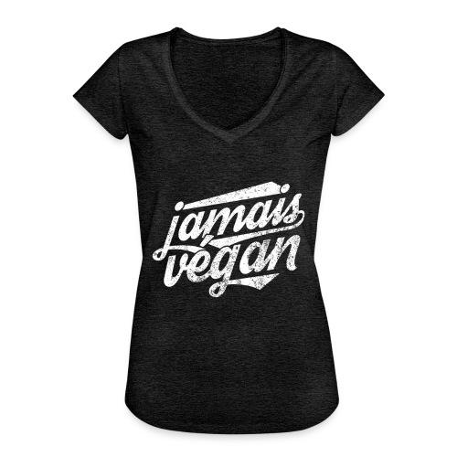 Jamais végan - T-shirt vintage Femme