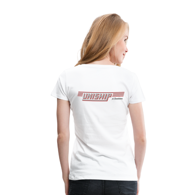 T-shirt Premium dam, Uniship (dubbelsidig)
