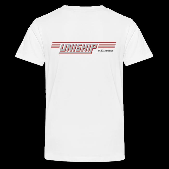 T-shirt Premium tonåring, Uniship (dubbelsidig)