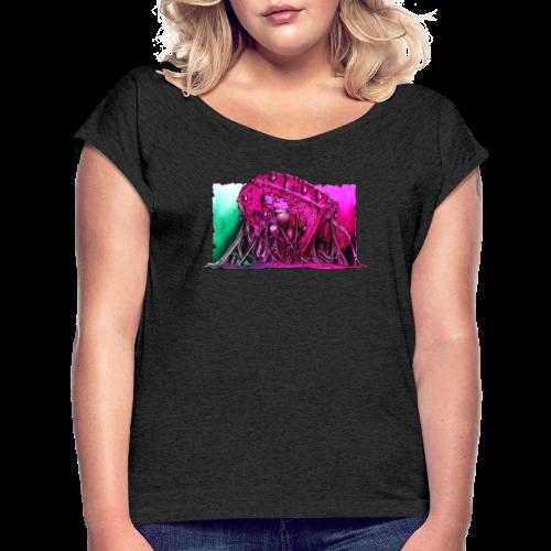 Icecream Lowbrow-Art - Frauen T-Shirt mit gerollten Ärmeln