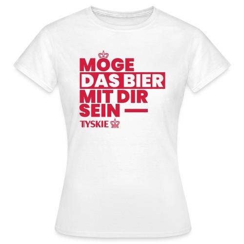 Möge das Bier mit Dir sein (weiß/Frauen) - Frauen T-Shirt