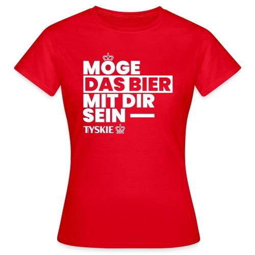 Möge das Bier mit Dir sein (rot/Frauen) - Frauen T-Shirt