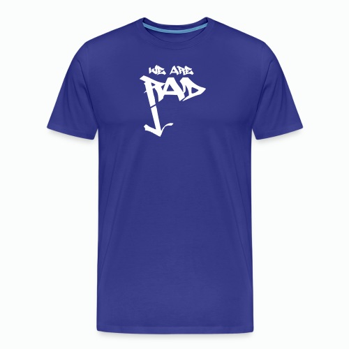 We Are Rad Graff Blanco Logo - Men's Premium T-Shirt
