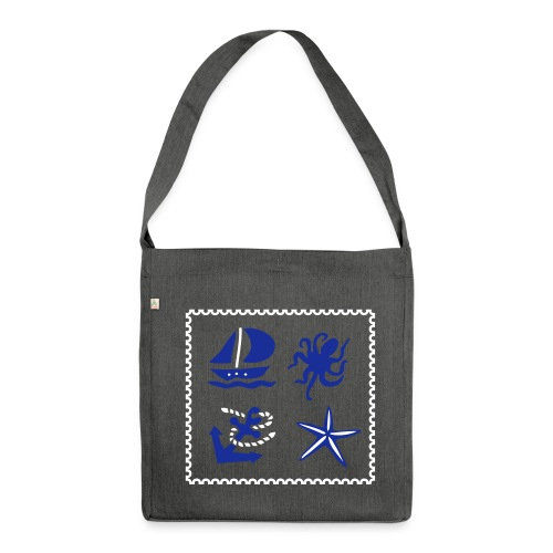 Maritim - Schultertasche aus Recycling-Material