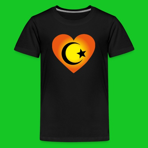 Love Islam Hart heren t-shirt - Teenager Premium T-shirt