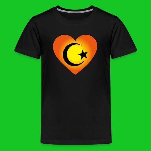 Love Islam Hart heren t-shirt - Teenager Premium T-shirt