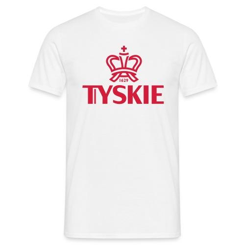 Tyskie Logo plain (weiß/Männer) - Männer T-Shirt