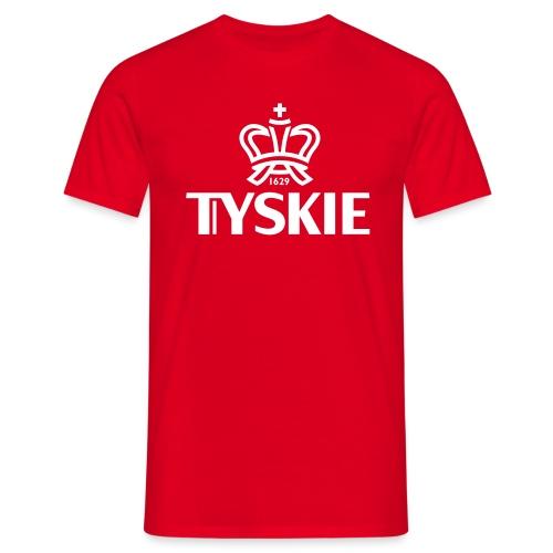 Tyskie Logo plain (rot/Männer) - Männer T-Shirt