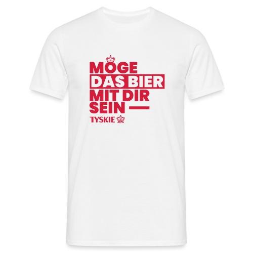Möge das Bier mit Dir sein (weiß/Männer) - Männer T-Shirt
