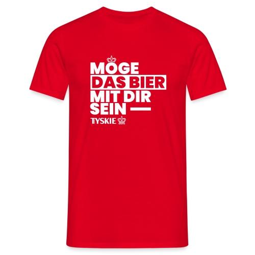 Möge das Bier mit Dir sein (rot/Männer) - Männer T-Shirt