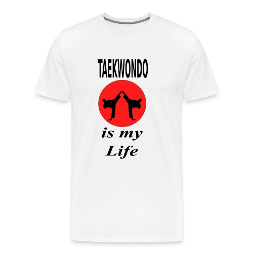 2 Kämpfer vor roter Sonne - Männer Premium T-Shirt