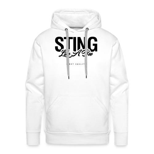Mens Sting Like A Bee Hoodie - Men's Premium Hoodie