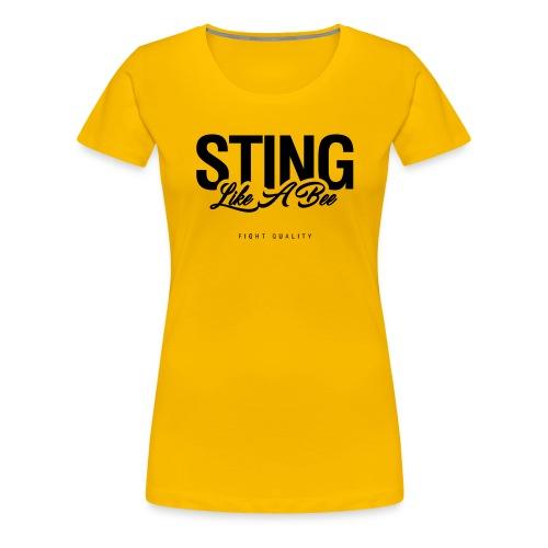 Womens Sting Like A Bee T-Shirt - Women's Premium T-Shirt