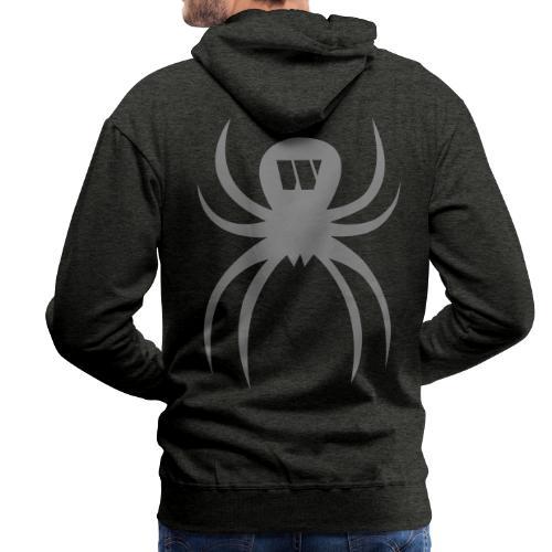 Silver Spider, Hoodie, black coal, B - Men's Premium Hoodie