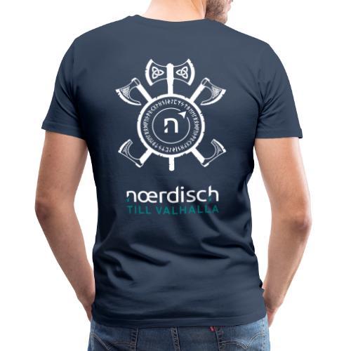 Männer T-Shirt Noerdisch - Till Valhalla - BACK dark - Männer Premium T-Shirt