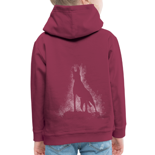 Dog Silhouette - Kinder Premium Hoodie