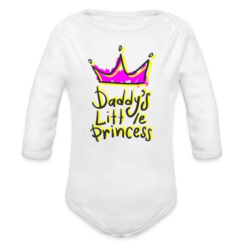 daddy's little princess - Body ecologico per neonato a manica lunga