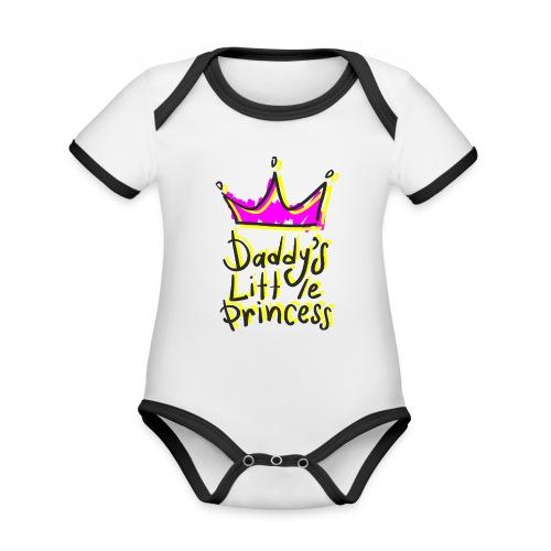 daddy's little princess - Body da neonato a manica corta, ecologico e in contrasto cromatico