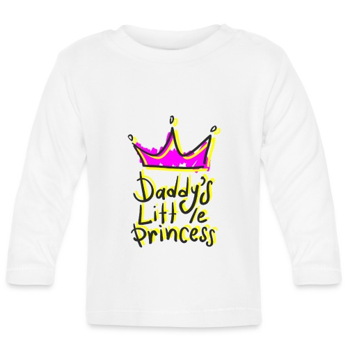 daddy's little princess - Maglietta a manica lunga per bambini