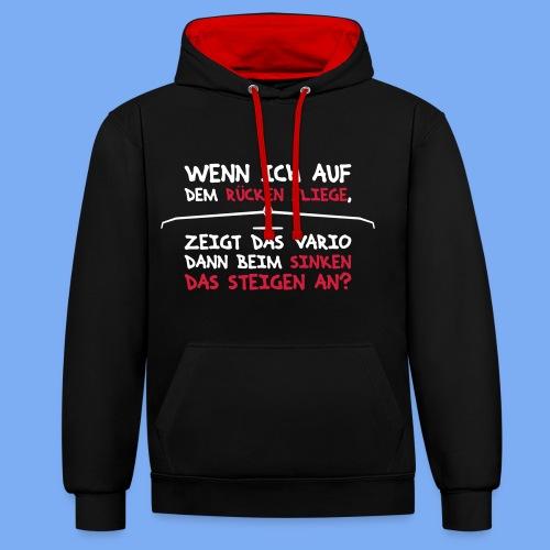 Segelflieger T-Shirt lustiger Spruch Geschenk Motor - Contrast Colour Hoodie